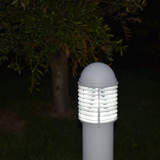Domus Illuminated white 0.6m Post Light in Garden