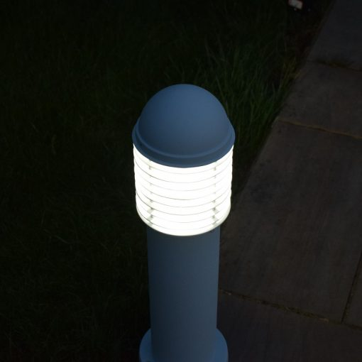 Domus Small White Path Light - illuminated