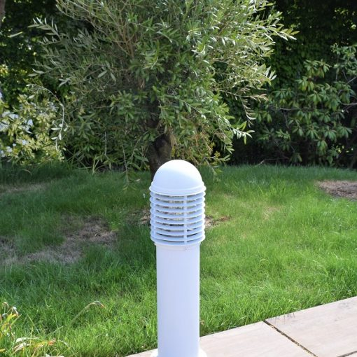 Domus white 0.6m Post Light in Garden