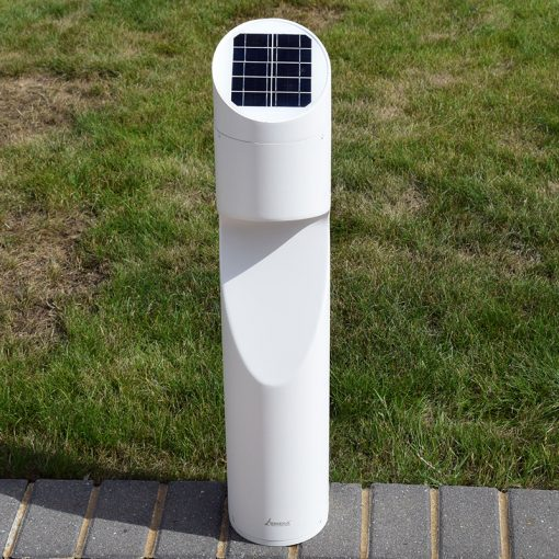 White Solar Post Light - Eccentrica