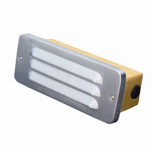 Silver Brick Light with louvres